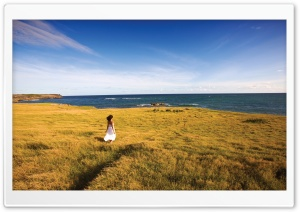 Woman In Nature HD Wide Wallpaper for Widescreen