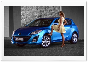 Woman  Mazda HD Wide Wallpaper for Widescreen