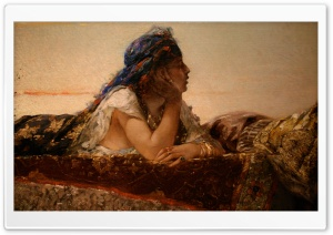 Woman Painting   Montreal Museum Of Fine Arts HD Wide Wallpaper for Widescreen