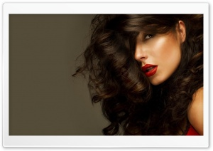 Woman Red Lips HD Wide Wallpaper for Widescreen
