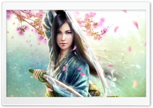 Woman Samurai HD Wide Wallpaper for Widescreen
