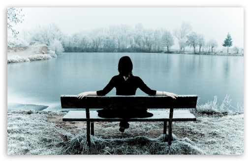 Woman Sitting Alone On A Bench HD wallpaper for Standard 4:3 5:4 Fullscreen UXGA XGA SVGA QSXGA SXGA ; Wide 16:10 5:3 Widescreen WHXGA WQXGA WUXGA WXGA WGA ; HD 16:9 High Definition WQHD QWXGA 1080p 900p 720p QHD nHD ; Other 3:2 DVGA HVGA HQVGA devices ( Apple PowerBook G4 iPhone 4 3G 3GS iPod Touch ) ; Mobile VGA WVGA iPhone iPad PSP Phone - VGA QVGA Smartphone ( PocketPC GPS iPod Zune BlackBerry HTC Samsung LG Nokia Eten Asus ) WVGA WQVGA Smartphone ( HTC Samsung Sony Ericsson LG Vertu MIO ) HVGA Smartphone ( Apple iPhone iPod BlackBerry HTC Samsung Nokia ) Sony PSP Zune HD Zen ; Tablet 2 Android ;