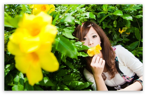 Woman Smelling A Flower HD wallpaper for Wide 16:10 5:3 Widescreen WHXGA WQXGA WUXGA WXGA WGA ; HD 16:9 High Definition WQHD QWXGA 1080p 900p 720p QHD nHD ; Standard 4:3 5:4 3:2 Fullscreen UXGA XGA SVGA QSXGA SXGA DVGA HVGA HQVGA devices ( Apple PowerBook G4 iPhone 4 3G 3GS iPod Touch ) ; Tablet 1:1 ; iPad 1/2/Mini ; Mobile 4:3 5:3 3:2 16:9 5:4 - UXGA XGA SVGA WGA DVGA HVGA HQVGA devices ( Apple PowerBook G4 iPhone 4 3G 3GS iPod Touch ) WQHD QWXGA 1080p 900p 720p QHD nHD QSXGA SXGA ;