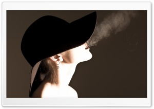 Woman Smoking HD Wide Wallpaper for Widescreen