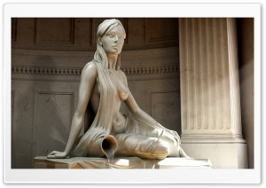 Woman Statue HD Wide Wallpaper for Widescreen