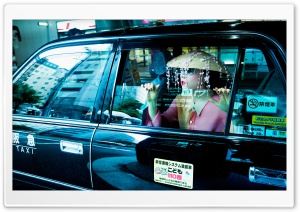 Woman, Taxi, Travel, Kyoto, Japan, Asia HD Wide Wallpaper for 4K UHD Widescreen desktop & smartphone
