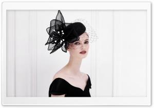 Woman Wearing a Fancy Black Hat Ultra HD Wallpaper for 4K UHD Widescreen desktop, tablet & smartphone