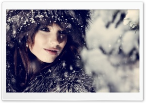 Woman, Winter HD Wide Wallpaper for 4K UHD Widescreen desktop & smartphone