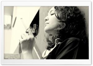 Woman With Revolver HD Wide Wallpaper for 4K UHD Widescreen desktop & smartphone