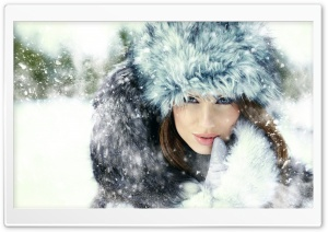 Women Winter Fashion HD Wide Wallpaper for Widescreen