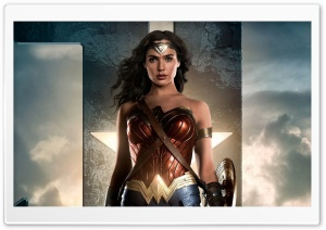 Wonder Woman in Justice League HD Wide Wallpaper for Widescreen