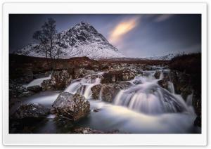 Wonderful Buachaille Etive Mor Mountain Waterfall Ultra HD Wallpaper for 4K UHD Widescreen desktop, tablet & smartphone