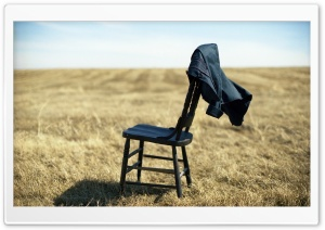 Wood Chair In A Field HD Wide Wallpaper for Widescreen
