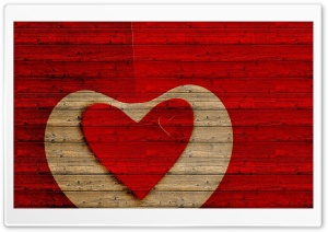 Wood Hearts HD Wide Wallpaper for Widescreen