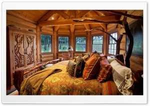Wooden Bedroom HD Wide Wallpaper for Widescreen