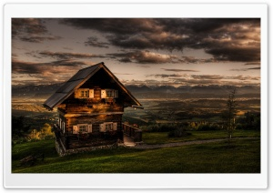 Wooden Chalet HD Wide Wallpaper for Widescreen