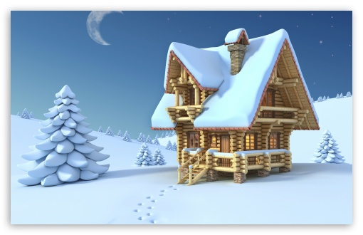 Wooden Chalet Winter 3D HD wallpaper for Wide 16:10 5:3 Widescreen WHXGA WQXGA WUXGA WXGA WGA ; HD 16:9 High Definition WQHD QWXGA 1080p 900p 720p QHD nHD ; Standard 3:2 Fullscreen DVGA HVGA HQVGA devices ( Apple PowerBook G4 iPhone 4 3G 3GS iPod Touch ) ; Tablet 1:1 ; Mobile 5:3 3:2 16:9 - WGA DVGA HVGA HQVGA devices ( Apple PowerBook G4 iPhone 4 3G 3GS iPod Touch ) WQHD QWXGA 1080p 900p 720p QHD nHD ;