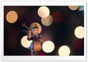 Wooden Girl Figurine Macro Ultra HD Wallpaper for 4K UHD Widescreen desktop, tablet & smartphone