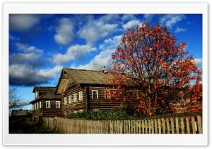 Wooden Houses, Autumn HD Wide Wallpaper for Widescreen