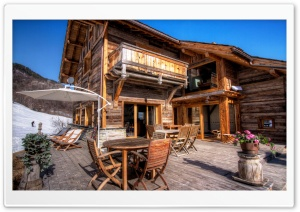 Wooden Lodge HD Wide Wallpaper for Widescreen