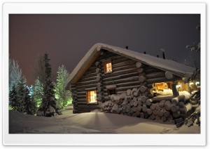 Wooden Lodge HD Wide Wallpaper for 4K UHD Widescreen desktop & smartphone