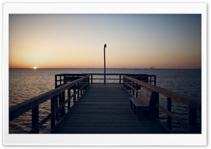 Wooden Pier HD Wide Wallpaper for Widescreen