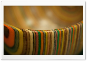 Wooden Rainbow Stripy Bowl HD Wide Wallpaper for Widescreen