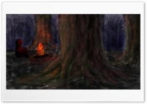 woods painting Ultra HD Wallpaper for 4K UHD Widescreen desktop, tablet & smartphone