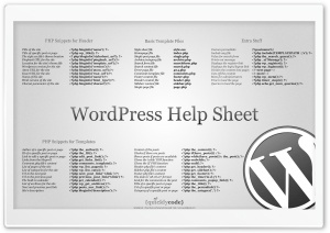 WordPress Help Sheet HD Wide Wallpaper for Widescreen