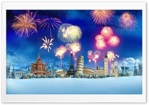 World Fireworks HD Wide Wallpaper for Widescreen