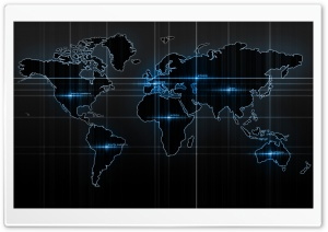 World Map Blue HD Wide Wallpaper for Widescreen