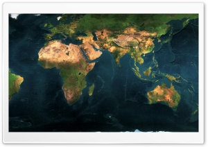 World Map Dual Monitor HD Wide Wallpaper for Widescreen
