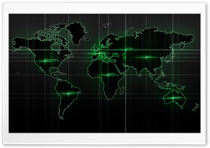 World Map Green HD Wide Wallpaper for Widescreen