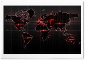 World Map Red HD Wide Wallpaper for 4K UHD Widescreen desktop & smartphone