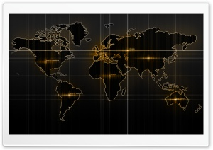 World Map Yellow HD Wide Wallpaper for Widescreen