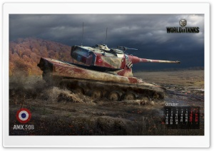 World of tanks: tank Amx 50B HD Wide Wallpaper for Widescreen
