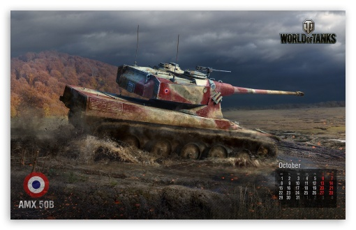 World of tanks: tank Amx 50B HD wallpaper for Wide 16:10 5:3 Widescreen WHXGA WQXGA WUXGA WXGA WGA ; Mobile 5:3 16:9 - WGA WQHD QWXGA 1080p 900p 720p QHD nHD ;
