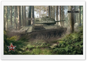 World of Tanks T-34-85 HD Wide Wallpaper for 4K UHD Widescreen desktop & smartphone