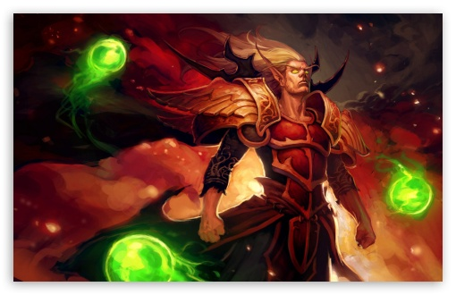 World Of Warcraft Blood Elf Ultra Hd Desktop Background