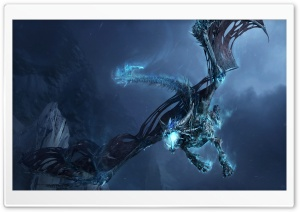 World Of Warcraft Ice Dragon HD Wide Wallpaper for 4K UHD Widescreen desktop & smartphone