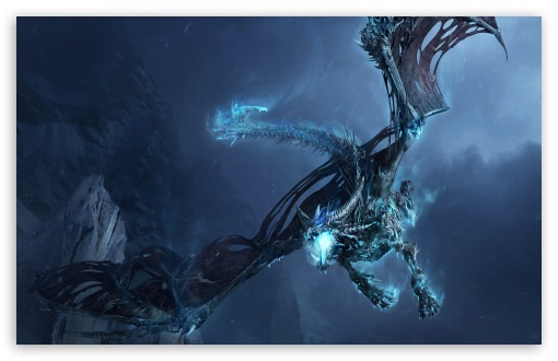 World Of Warcraft Ice Dragon Ultra Hd Desktop Background Wallpaper