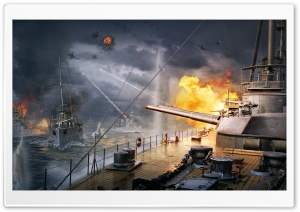 World Of Warships Battleships HD Wide Wallpaper for 4K UHD Widescreen desktop & smartphone