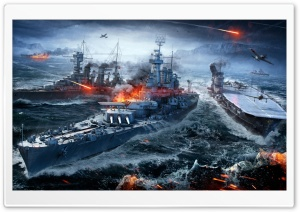 World Of Warships Naval Sea Battle HD Wide Wallpaper for Widescreen