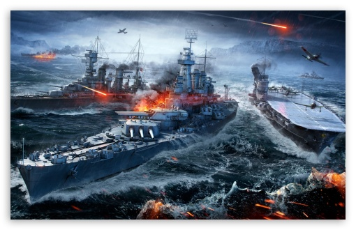 Download World Of Warships Naval Sea Battle HD Wallpaper