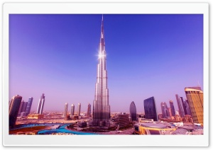 World's Tallest Tower Burj Khalifa Ultra HD Wallpaper for 4K UHD Widescreen desktop, tablet & smartphone