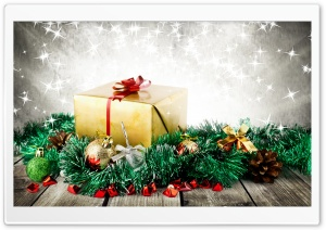 Wrapped Christmas Present HD Wide Wallpaper for Widescreen