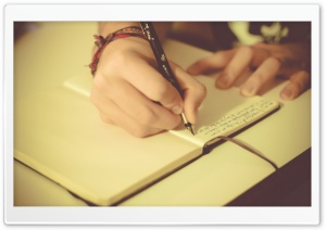 Writing A Story HD Wide Wallpaper for Widescreen