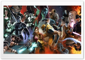 X-Men Characters HD Wide Wallpaper for Widescreen