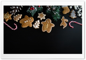 Xmas Gingerbread Man Ultra HD Wallpaper for 4K UHD Widescreen desktop, tablet & smartphone