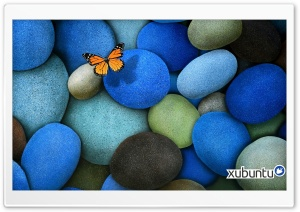 Xubuntu Blue Rock HD Wide Wallpaper for Widescreen